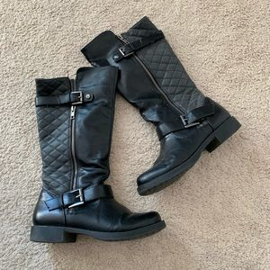 Black Faded Glory Quilted Boot